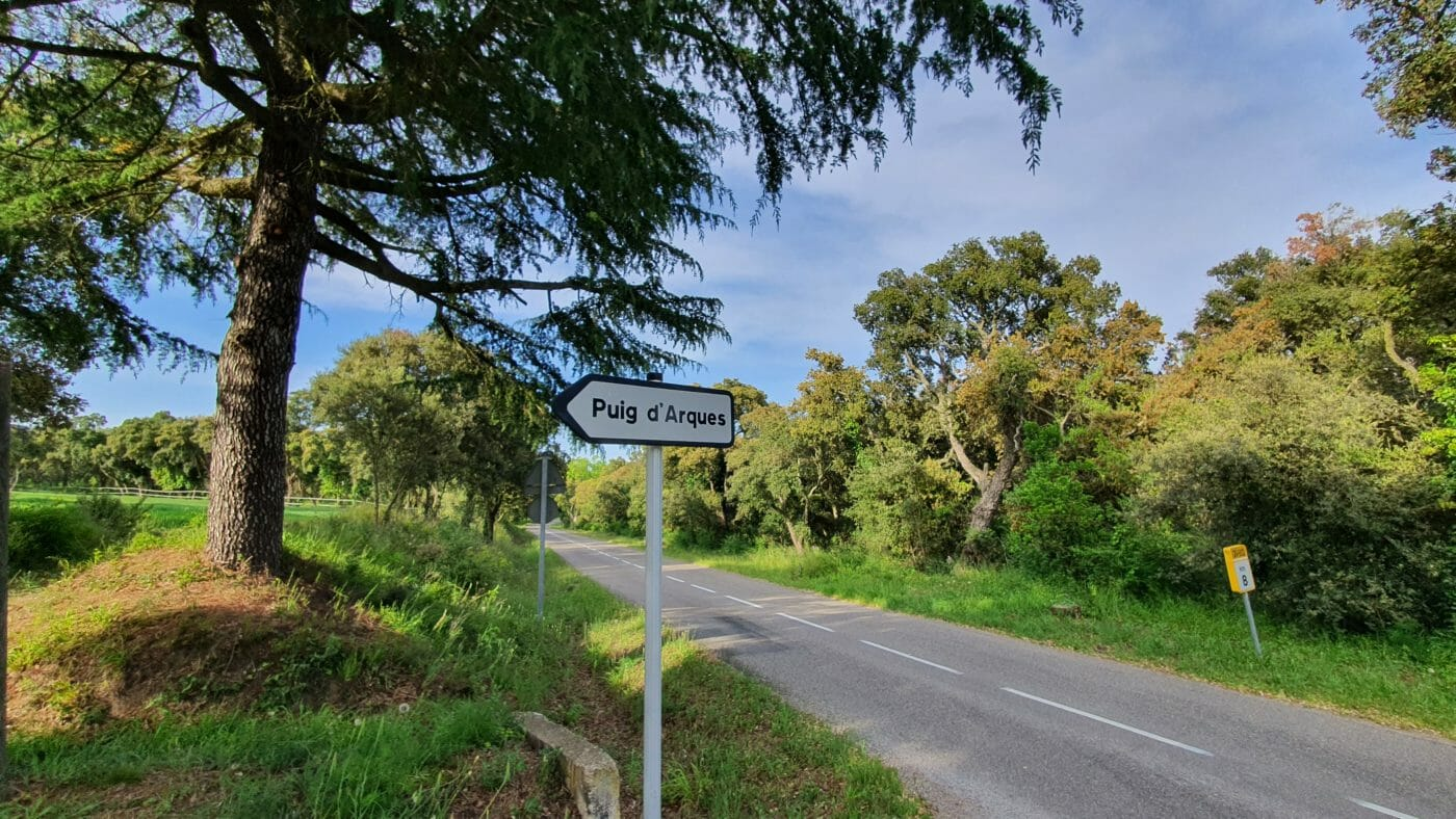 Cycling in girona puig d'arques